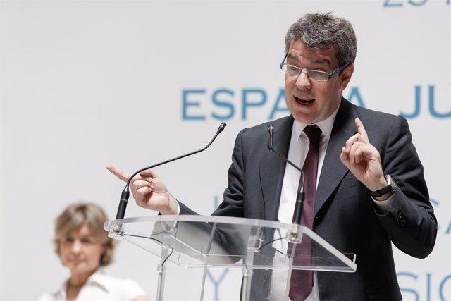 El ministro de Energía, Álvaro Nadal, en una Jornadas