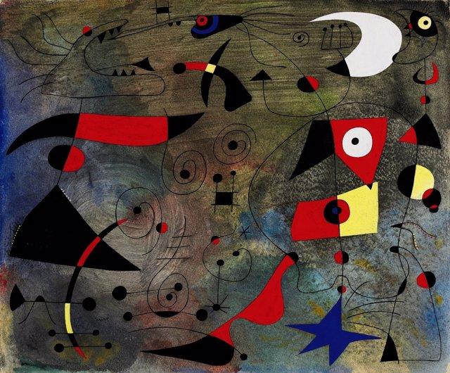 El cuadro de Joan Miró 'Femme et oiseaux' (1940)