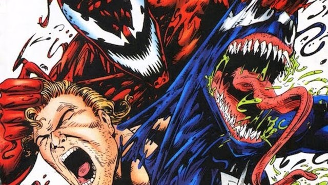 Venom siendo atacado por Matanza