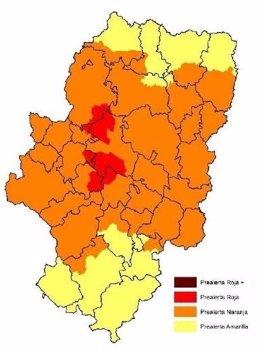 Prealerta roja por riesgo de incendios en Valmadrid y Zuera