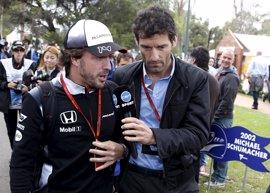 """Webber lamenta la """"absoluta farsa"""" de que Alonso no tenga un coche competitivo"""