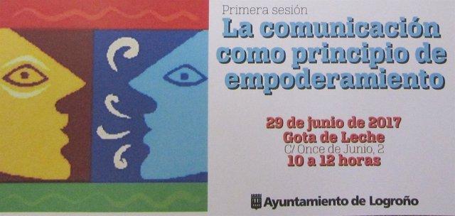 Cartel de la primera acción de la Escuela Municipal de Empoderamiento