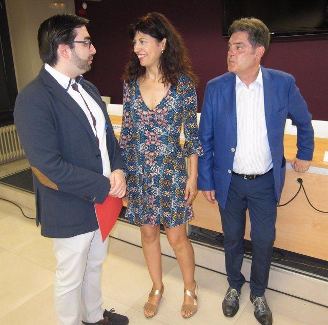 Ernesto Monsalve, Ana Redondo y José María Viteri