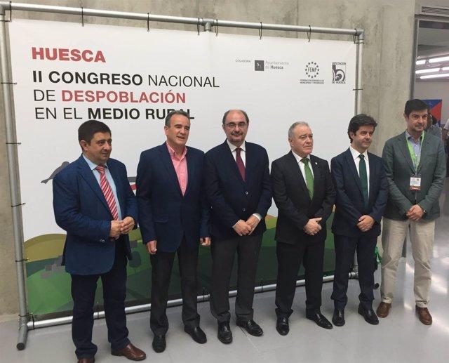 Reyes (i) en el II Congreso Nacional de Despoblación en el Medio Rural.