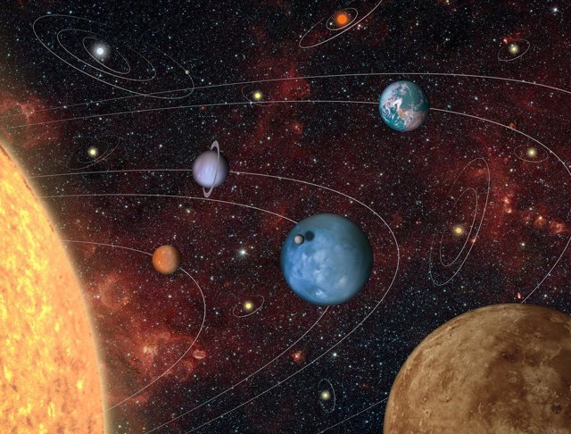 Imagen que representa la variedad de sistemas planetarios que PLATO descubrirá