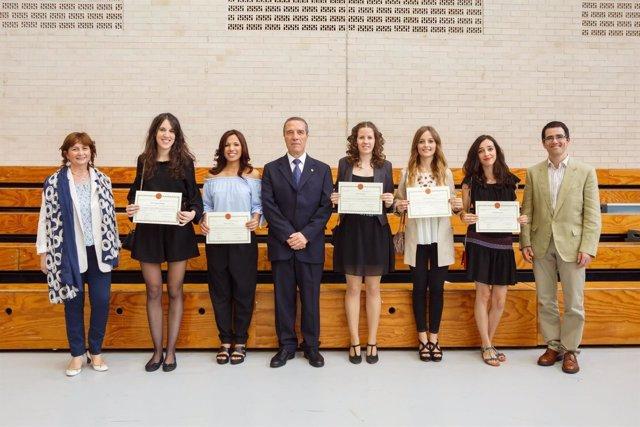 Premiadas de la facultad de Humanas y Sociales.
