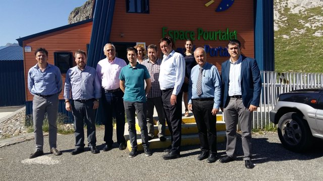 Una delegación del Comité de las Regiones visita el 'Espacio Portalet'