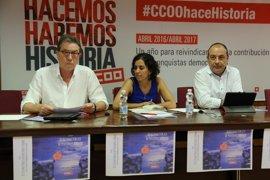 """CCOO avanza movilizaciones """"intensas"""" para exigir la mejora y protección de las pensiones"""