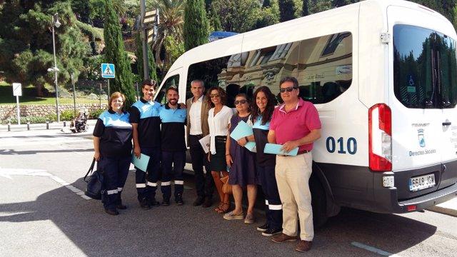 Unidad de Emergencia Social del Ayto de Málaga capital andrade ayuda asistencia