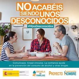 Campaña de Proyecto Hombre para prevenir el consumo de drogas desde la familia