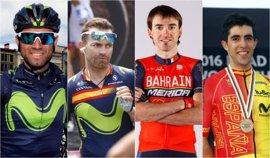 Valverde, Rojas, Izaguirre y Castroviejo, favoritos para el Campeonato de España