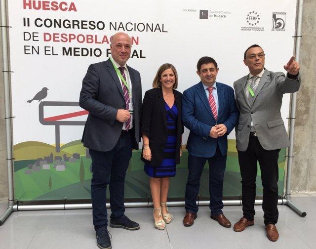 Irene García asiste al congreso de Huesca