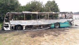 Arde un autobús de Arriva en Valdoviño (A Coruña) e investigan si está relacionado con la huelga