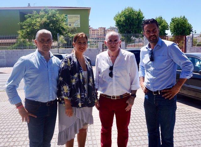 Del Corral, Jiménez y Marmolejo en rueda de prena