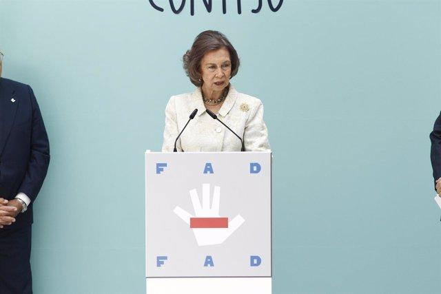 La reina Sofía en un acto de la Fundación de Ayuda contra la Drogadicción