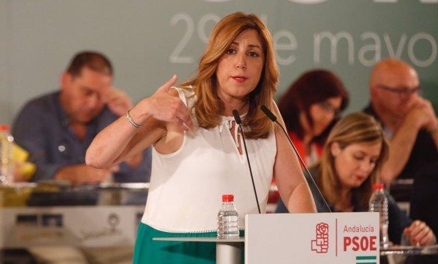 Susana Díaz interviene en el Comité Director del PSOE-A