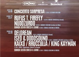 Rufus T. Firefly, Nudozurdo, Delorean e Iseo & Dodosound actuarán gratis dentro del Bilbao BBK Live Bereziak