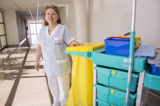 Tragsa, limpiadora, hospital