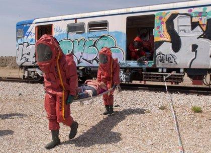 Más de 500 profesionales participan en Rivas (Madrid) en un simulacro de atentado terrorista con bombas químicas
