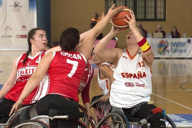 España, primer líder femenino del Europeo de Baloncesto en Silla de Ruedas