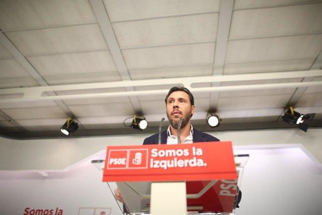 Rueda de prensa de Óscar Puente, portavoz de la Ejecutiva del PSOE