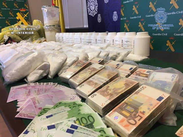 Droga y dinero intervenido en operación Guardia Civil