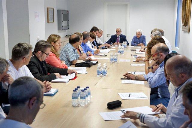 Un momento de la reunión del dispositivo sanitario