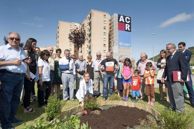 Uxue Barkos, en el inicio del proyecto Efidistrict en la Chantrea.