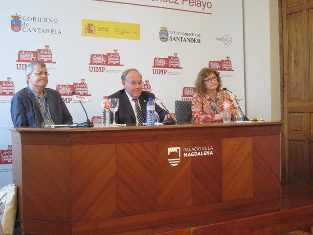 Borrás, Nombela y Domenech en rueda de prensa