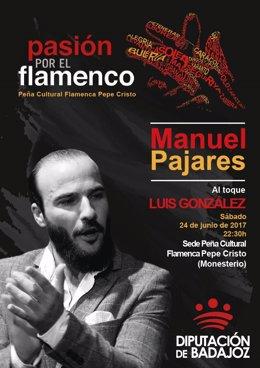 """Nota Informativa. """"Pasión Por El Flamenco"""" Recala En Monesterio Con Manuel Pajar"""