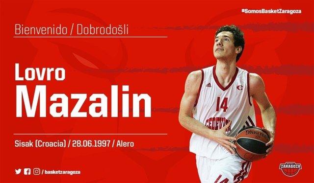 Lovro Mazalin Tecnyconta Zaragoza