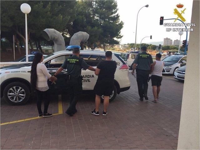 Tres de los detenidos en El Campello