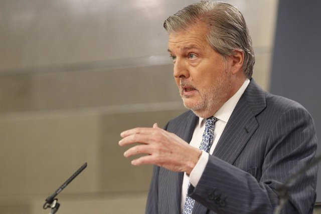 Iñigo Méndez de Vigo en rueda de prensa tras el Consejo de Ministros