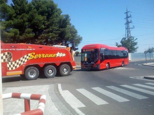 Autobús hibrido remolcado