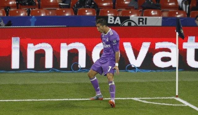 Cristiano Ronaldo marca el 0-1 en la final de la Champions