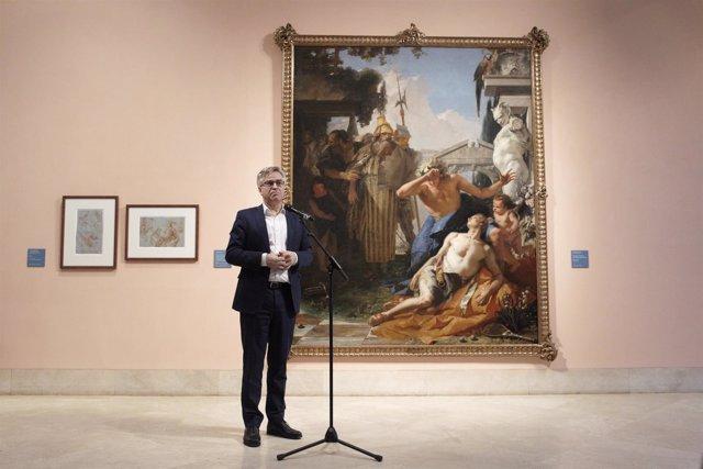 El Museo Thyssen presenta la restauración del cuadro La muerte de Jacinto