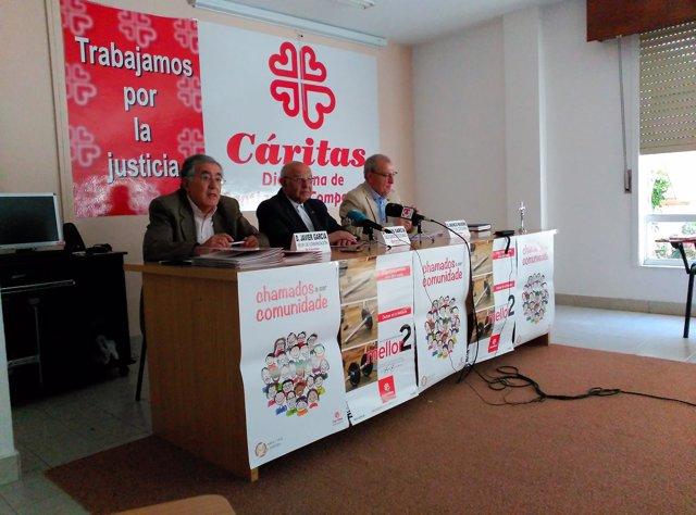 Rueda de prensa de Cáritas Diocesana de Santiago