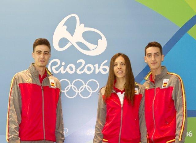 Joel González, Eva Calvo y Jesús Tortosa