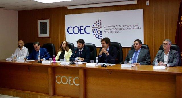 López Miras clausura la asamblea de COEC