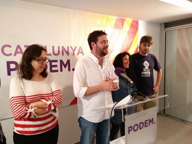 El secretario general de Podem, Albano-Dante Fachin, en rueda de prensa