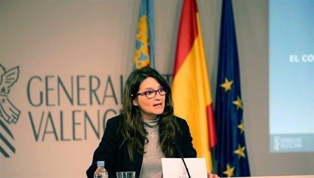 Imagen de archivo de la vicepresidenta en un pleno del Consell