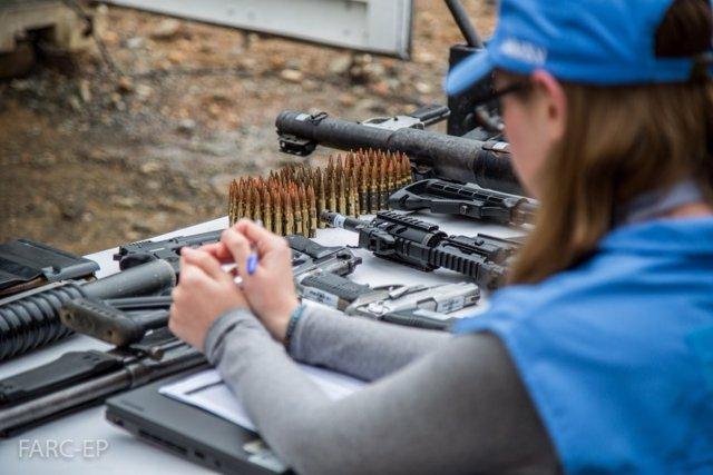 Entrega de armas de las FARC