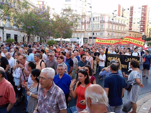 Protesta de la Mesa del Ferrocarril de Almería