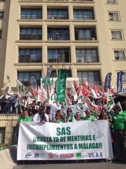 Concentración hospital regional málaga sindicatos sanidad