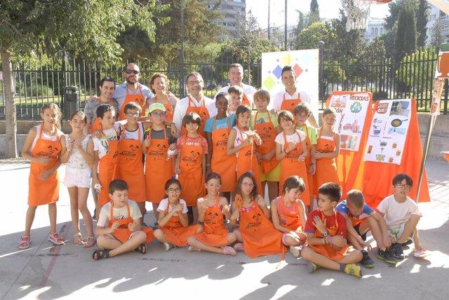 Ganadoras de la liga de reciclaje de aceite en colegios