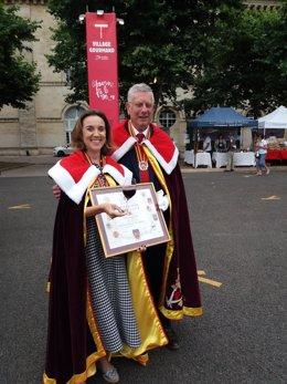 Gamarra recibe la Medalla de la ciudad de Libourne