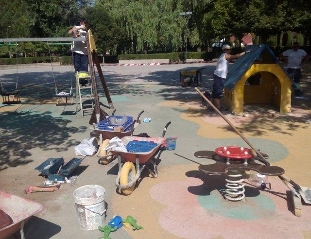 Acondicionamiento de zonas infantiles de Huesca