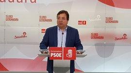 """Vara, """"consciente"""" de que algo """"no"""" ha hecho bien en el """"ámbito orgánico"""" si tiene """"competencia"""" en el PSOE extremeño"""