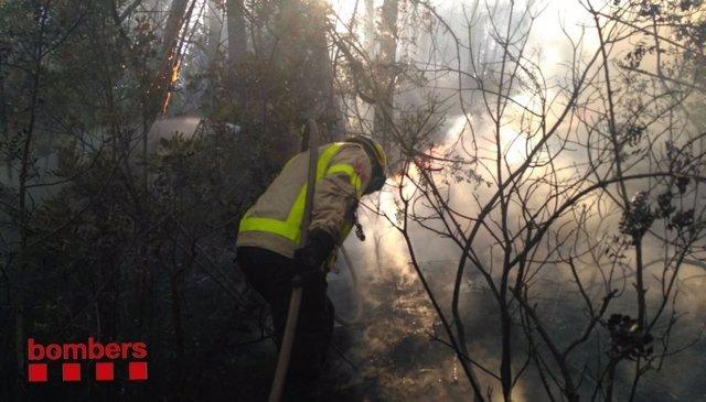 Incendio en Esparreguera