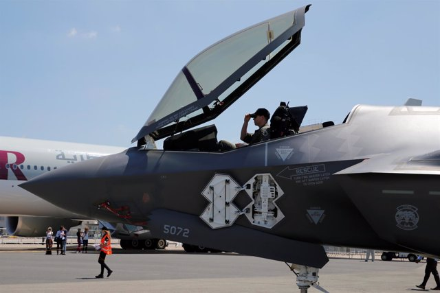 Un cazaborbardero F-35 de Lockheed Martin Corp.